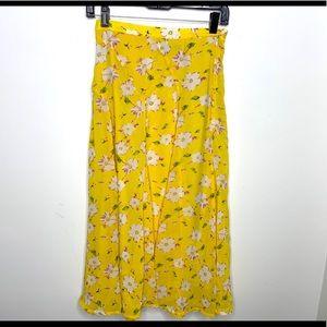 < P Luca Milano Floral Full Length Skirt >